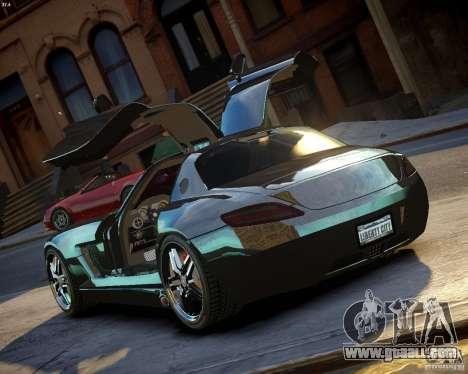 Mercedes SLS Extreme for GTA 4 back left view