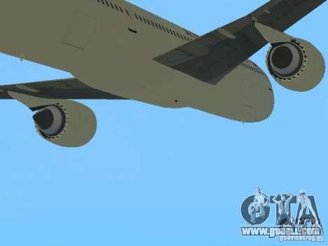 Boeing 787 Dreamliner Air Canada for GTA San Andreas back view