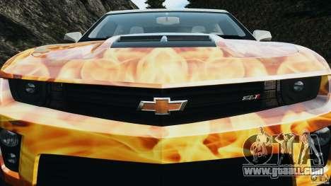 Chevrolet Camaro ZL1 2012 v1.0 Flames for GTA 4 engine