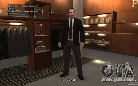 Open jackets with ties for GTA 4 third screenshot