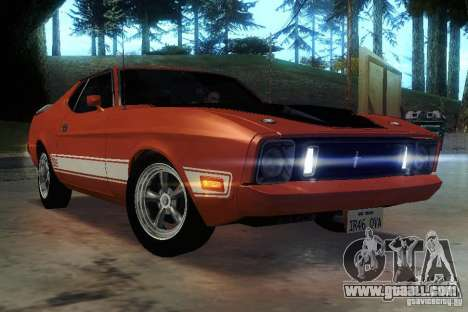 Ford Mustang Mach1 1973 for GTA San Andreas side view