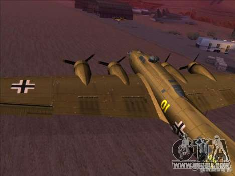 B-17G Flying Fortress for GTA San Andreas left view