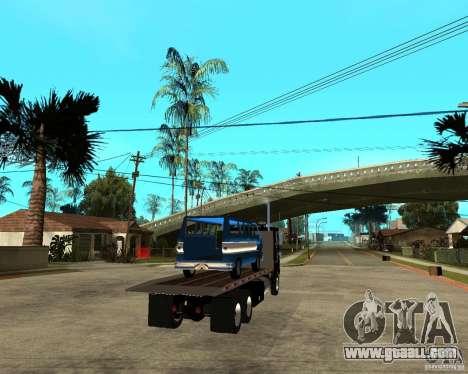 Peterbilt for GTA San Andreas back left view