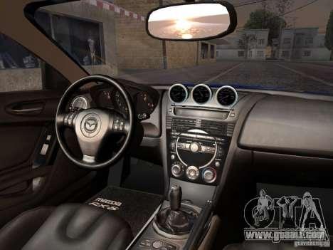 Mazda RX-8 Varis Custom for GTA San Andreas back view