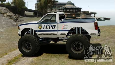 Cop Monster Truck ELS for GTA 4 left view