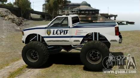 Cop Monster Truck ELS for GTA 4 left view