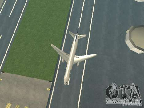 Boeing 767-300 Lufthansa for GTA San Andreas back view