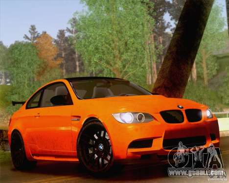 BMW M3 GT-S 2011 for GTA San Andreas inner view