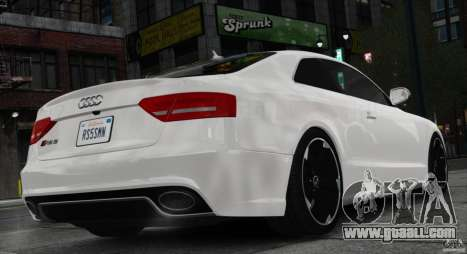 Audi RS5 2011 for GTA 4 left view