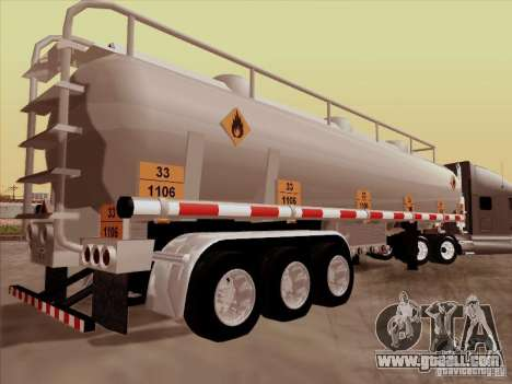 Trailer Kenworth T2000 for GTA San Andreas left view