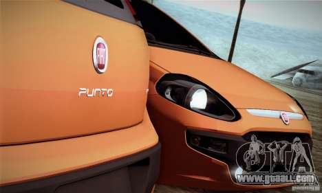 Fiat Punto Evo 2010 Edit for GTA San Andreas back view