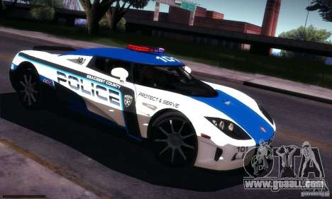Koenigsegg CCX Police for GTA San Andreas side view