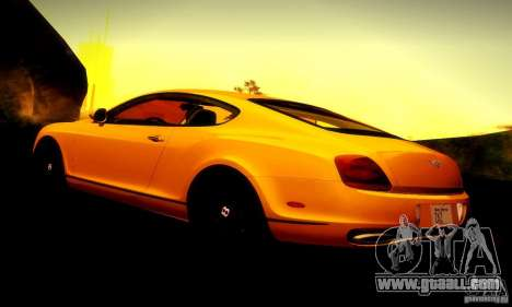 Bentley Continental Supersports for GTA San Andreas engine