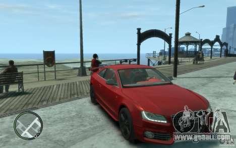 Audi S5 v2 for GTA 4 back view