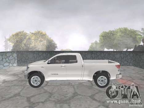 Toyota Tundra for GTA San Andreas back view