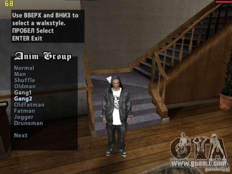 Walk style for GTA San Andreas second screenshot