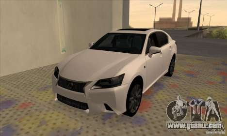 Lexus GS350 F Sport Series IV 2013 for GTA San Andreas