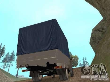GAZ 3302 in 2001. for GTA San Andreas inner view