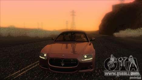 Maserati Quattroporte Sport GT V1.0 for GTA San Andreas interior