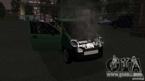 Daewoo Matiz for GTA San Andreas inner view