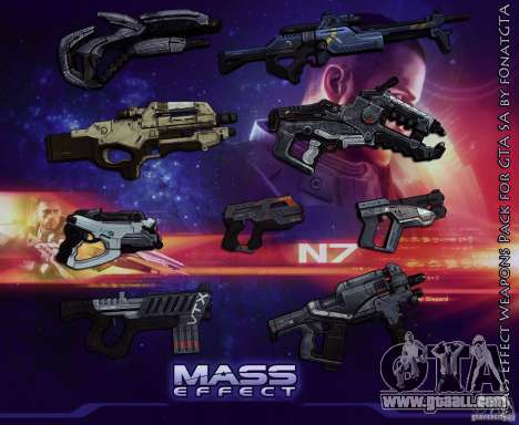 Mass Effect Weapons Pack for GTA San Andreas