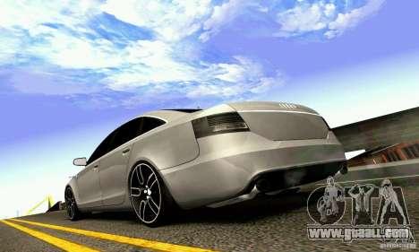 Audi A6 Blackstar for GTA San Andreas upper view