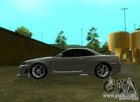 Nissan Skyline GTR-34 for GTA San Andreas back view