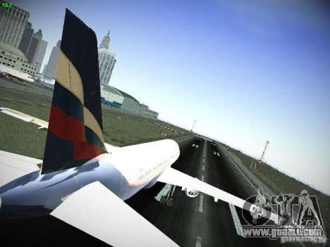 Aeroflot Russian Airlines Airbus A320 for GTA San Andreas right view
