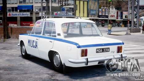 Fiat 125p Polski Milicja for GTA 4 back left view