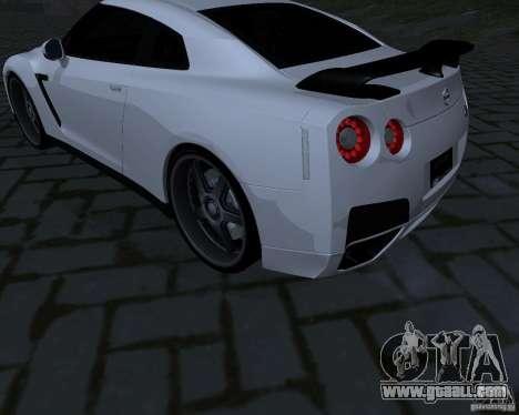 Nissan GTR-35 Spec-V for GTA San Andreas back view