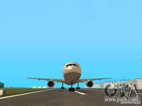 Boeing 767-300 Lufthansa for GTA San Andreas inner view