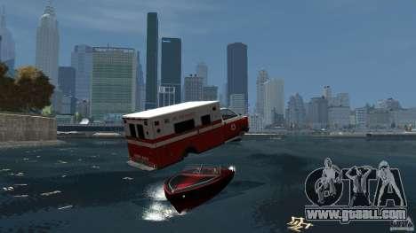 Ambulance boat for GTA 4 back view