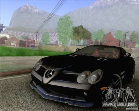 Mercedes SLR McLaren 722 Edition for GTA San Andreas left view