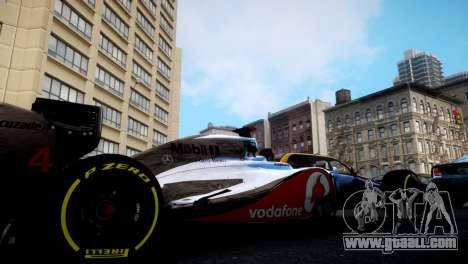 McLaren MP4-27 for GTA 4 left view