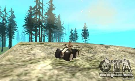 QUAD BIKE Custom Version 1 for GTA San Andreas back view