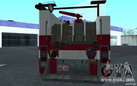 FIRETRUCK for GTA San Andreas right view