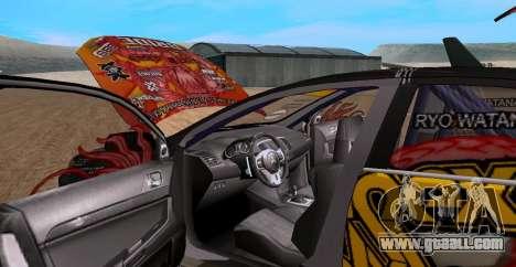 Mitsubishi Lancer Evolution RYO Vatanabe for GTA San Andreas right view