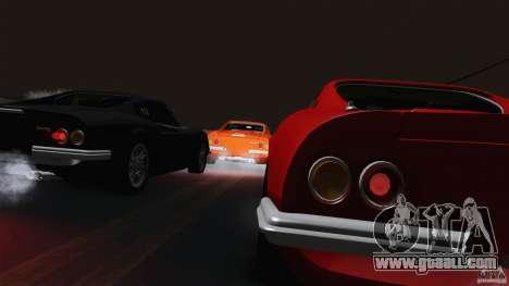 Ferrari 246 Dino GTS for GTA San Andreas inner view
