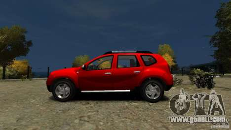 Dacia Duster SUV 4x4 2010 for GTA 4 left view