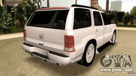 Cadillac Escalade for GTA Vice City back left view