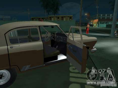 GAS M21T Taxi for GTA San Andreas bottom view