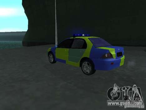 Mitsubishi Lancer Police for GTA San Andreas left view