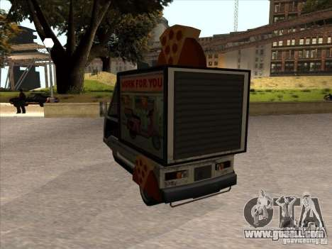 Sweeper Pizza Boy for GTA San Andreas back left view