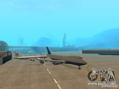 Boeing 747-100 United Airlines for GTA San Andreas left view