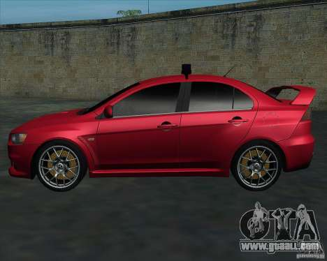 Mitsubishi Lancer Evolution X MR1 v2.0 for GTA San Andreas left view
