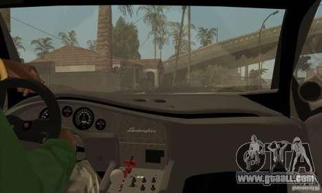 Lamborghini Diablo GT-R for GTA San Andreas inner view