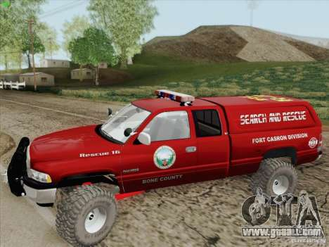 Dodge Ram 3500 Search & Rescue for GTA San Andreas bottom view