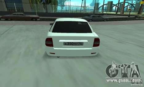 Lada Priora Italia for GTA San Andreas right view