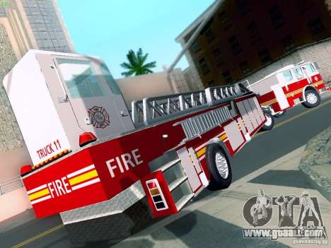 Seagrave Tiller Truck for GTA San Andreas left view