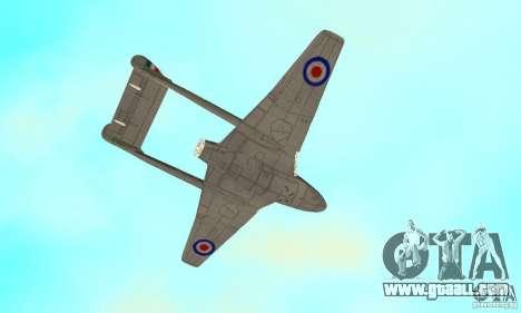 De-Havilland-Vampire ver 2.0 for GTA San Andreas side view